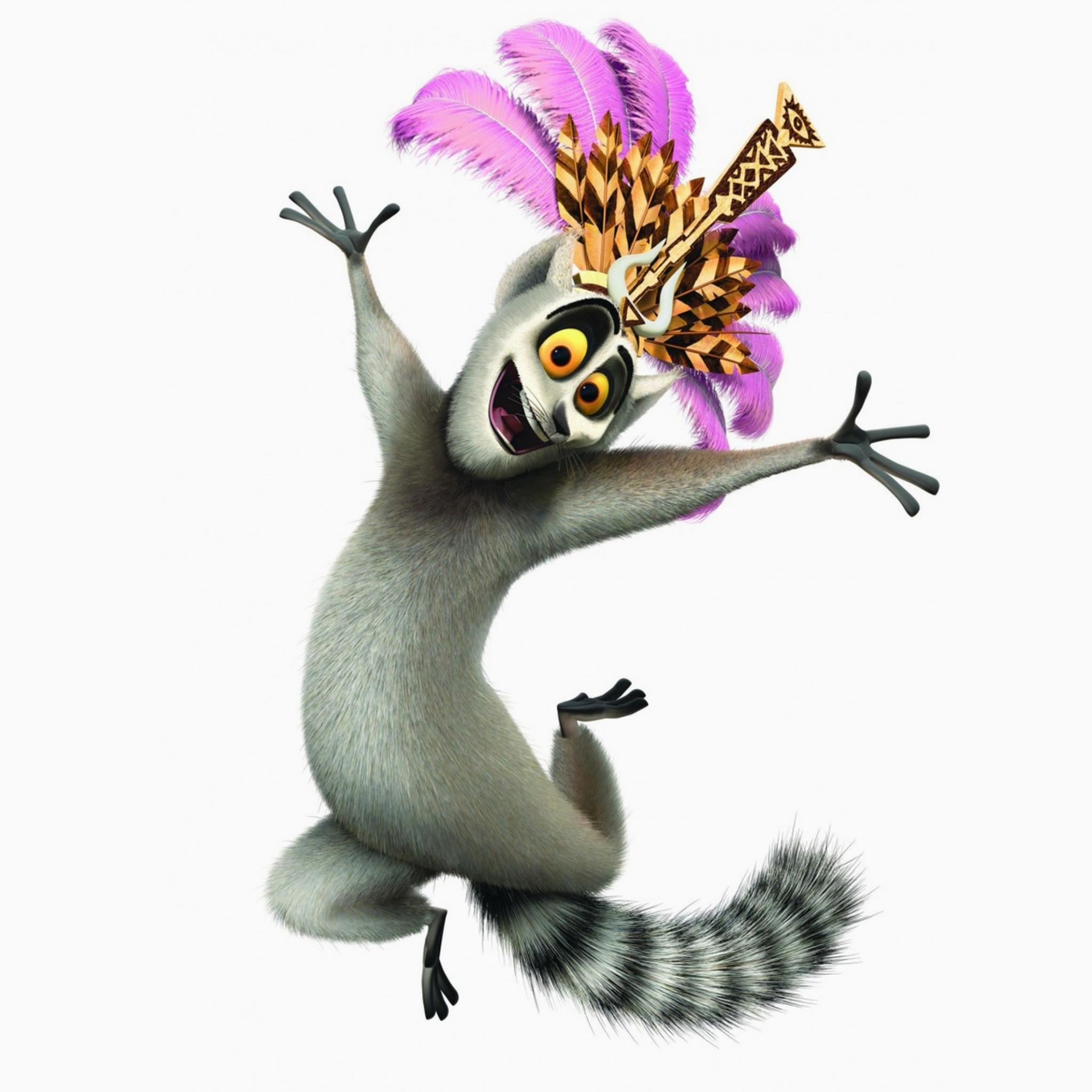 Lemur King From Madagascar Wallpaper For 2048x2048