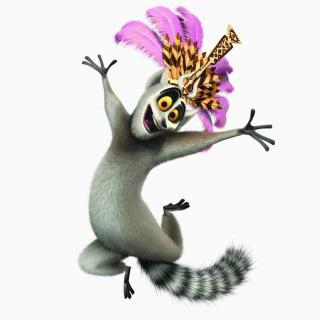 Lemur King From Madagascar - Obrázkek zdarma pro iPad