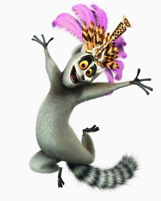 Lemur King From Madagascar - Obrázkek zdarma pro Nokia Asha 306