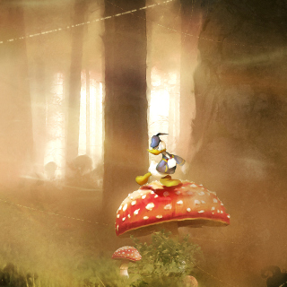 Mickey Mouse and Donald Duck - Obrázkek zdarma pro 208x208