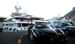 Cars Monaco And Yachts Wallpaper for Android, iPhone and iPad