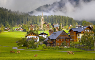 Free Gosau Village - Austria Picture for Android, iPhone and iPad