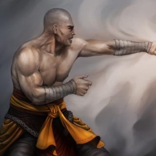 Warrior Monk by Lucas Torquato de Resende - Obrázkek zdarma pro 320x320