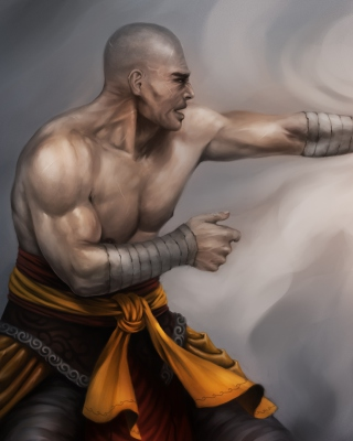 Warrior Monk by Lucas Torquato de Resende - Obrázkek zdarma pro 132x176