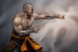 Warrior Monk by Lucas Torquato de Resende - Obrázkek zdarma pro Desktop Netbook 1366x768 HD