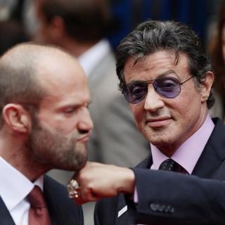 Jason Statham and Sylvester Stallone - Obrázkek zdarma pro iPad mini