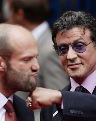 Jason Statham and Sylvester Stallone - Obrázkek zdarma pro 132x176