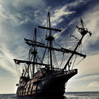 Black Pearl Pirates Of The Caribbean - Obrázkek zdarma pro iPad 2