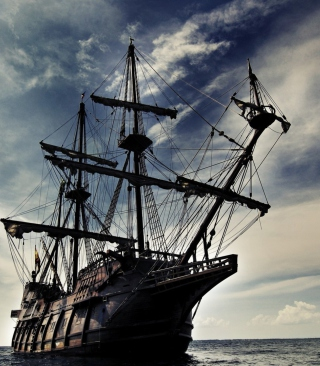 Black Pearl Pirates Of The Caribbean - Obrázkek zdarma pro 128x160