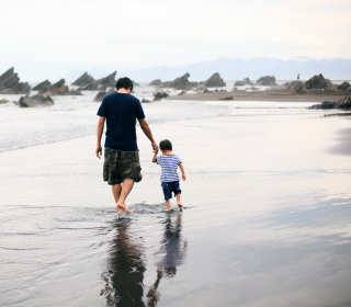 Dad And Son - Obrázkek zdarma pro 128x128