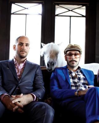 OK Go American alternative Rock Band - Obrázkek zdarma pro Nokia Asha 502
