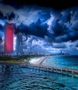 Beach Before Rain - Obrázkek zdarma pro iPhone 4S