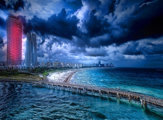 Beach Before Rain - Obrázkek zdarma pro 960x854