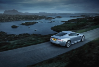 Aston Martin Dbs Evening Ride Background for Android, iPhone and iPad