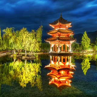 Chinese Pagoda HD - Obrázkek zdarma pro iPad mini 2