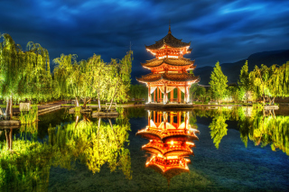 Chinese Pagoda HD Wallpaper for Nokia Asha 200