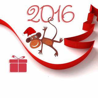 New Year 2016 of Monkey Zodiac - Obrázkek zdarma pro 128x128