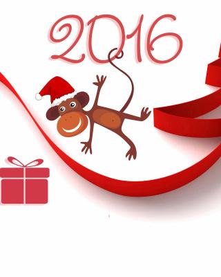 New Year 2016 of Monkey Zodiac - Obrázkek zdarma pro 176x220