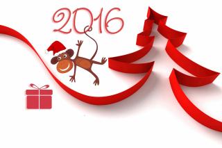 New Year 2016 of Monkey Zodiac - Obrázkek zdarma pro Sony Xperia M