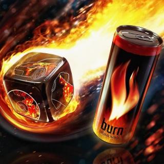 Burn energy drink - Obrázkek zdarma pro iPad
