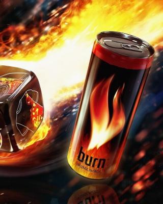 Burn energy drink - Obrázkek zdarma pro Nokia Lumia 820