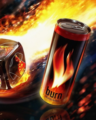 Burn energy drink - Obrázkek zdarma pro iPhone 5C