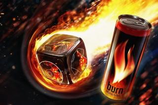 Burn energy drink - Obrázkek zdarma pro Samsung Galaxy Tab 2 10.1