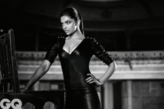 Deepika Padukone Black and White Photo Background for Android, iPhone and iPad