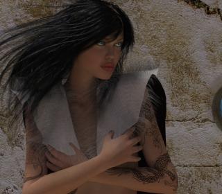 Girl 3D - Obrázkek zdarma pro iPad Air