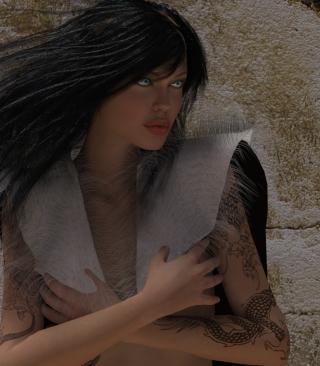 Girl 3D - Obrázkek zdarma pro 320x480