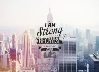 I am strong because i know my weakness - Obrázkek zdarma pro 640x480