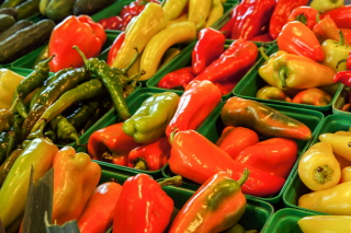Colorful Peppers Wallpaper for Android, iPhone and iPad