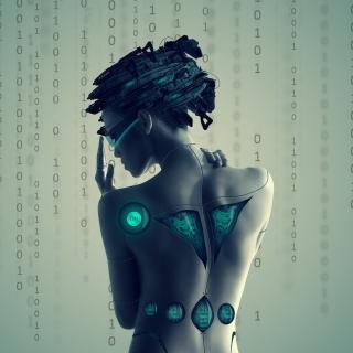 Cyborg Girl - Obrázkek zdarma pro 128x128