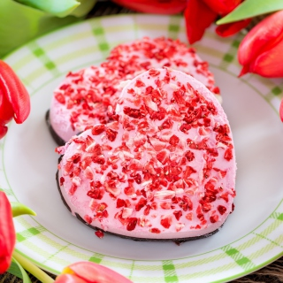Pink Cake Hearts - Obrázkek zdarma pro 208x208