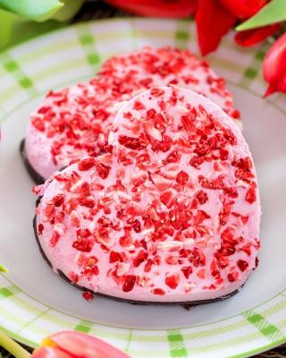 Pink Cake Hearts - Obrázkek zdarma pro Nokia Asha 311