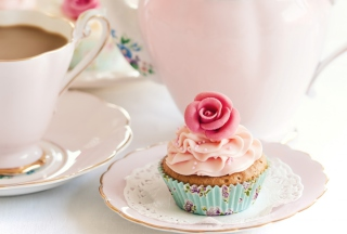 Vintage Style Cupcake Background for Android, iPhone and iPad
