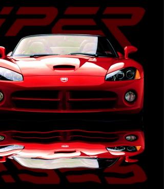 Red Dodge Viper - Obrázkek zdarma pro Nokia Asha 303