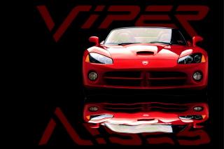 Red Dodge Viper - Obrázkek zdarma pro Nokia Asha 210