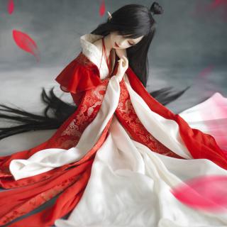 Beautiful Doll In Japanese Kimono - Obrázkek zdarma pro 208x208