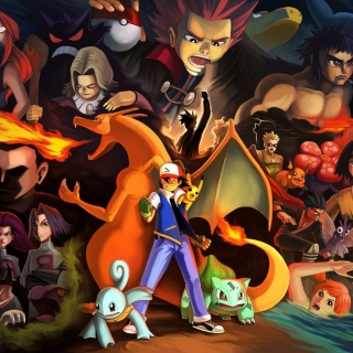 Pokemon GO Charmander vs Squirtle - Obrázkek zdarma pro 1024x1024