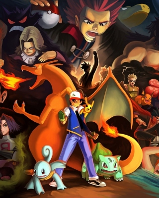 Pokemon GO Charmander vs Squirtle - Obrázkek zdarma pro Nokia Asha 308
