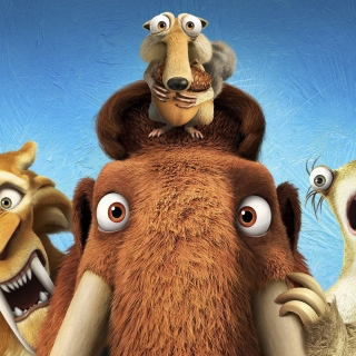 Ice Age 5 Collision Course with Diego, Manny, Scrat, Sid, Mammoths - Obrázkek zdarma pro iPad 2