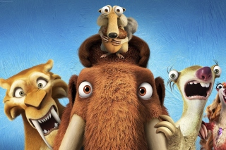 Kostenloses Ice Age 5 Collision Course with Diego, Manny, Scrat, Sid, Mammoths Wallpaper für Android, iPhone und iPad