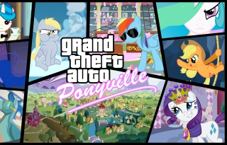 Grand Theft Auto Ponyville Background for Android, iPhone and iPad