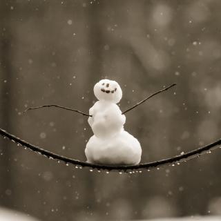 Happy Snowman - Obrázkek zdarma pro 128x128