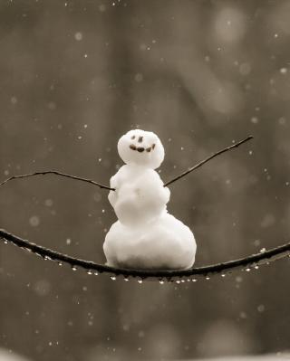Happy Snowman - Obrázkek zdarma pro 480x800