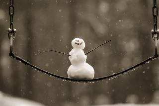 Happy Snowman - Obrázkek zdarma pro 2560x1600