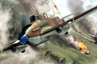 Il 2 Shturmovik Ground Attack Aircraft - Obrázkek zdarma pro 480x360