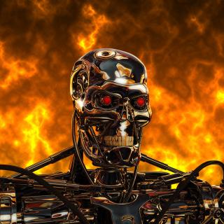 Cyborg Terminator - Obrázkek zdarma pro 208x208