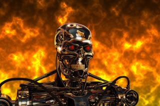 Cyborg Terminator - Obrázkek zdarma pro 480x320